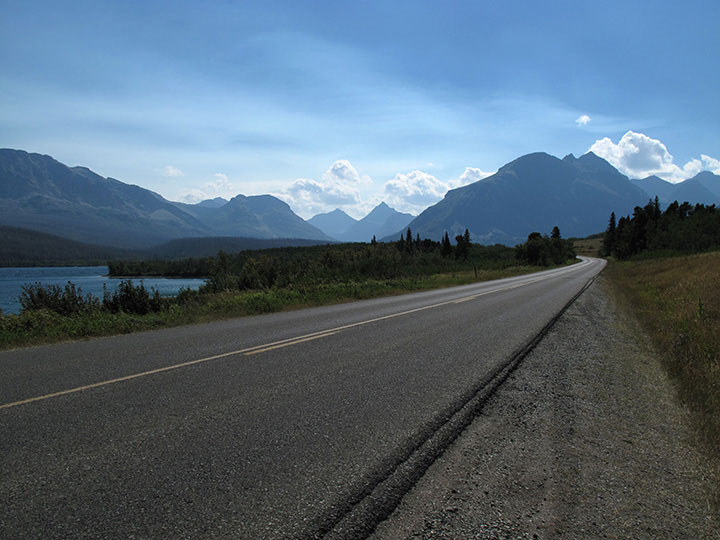 Raod into Glacier National Park