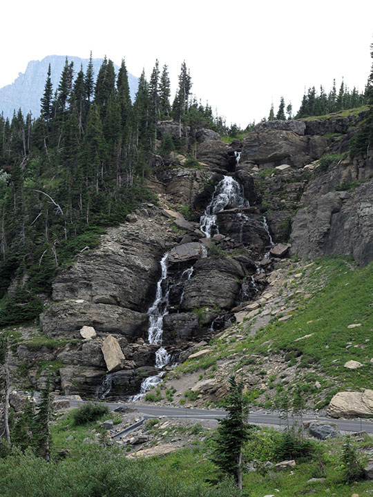 Glacier Upper Waterfall