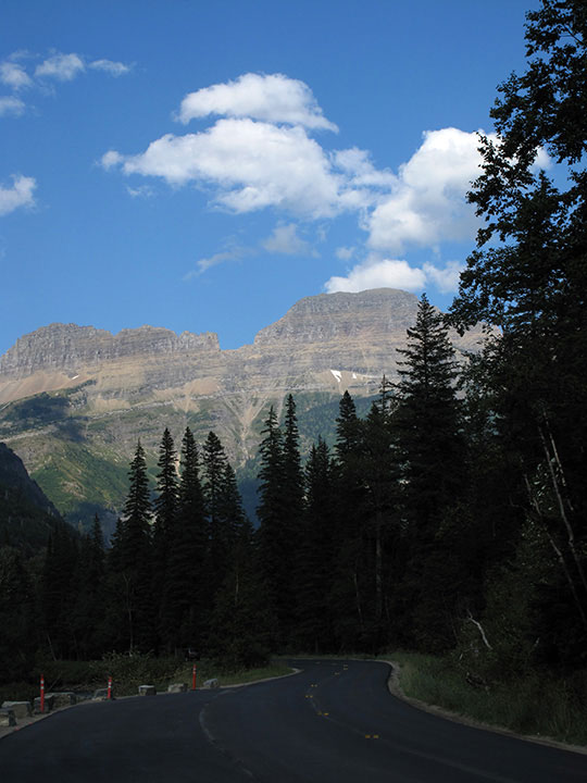 Looking back Glacier NP