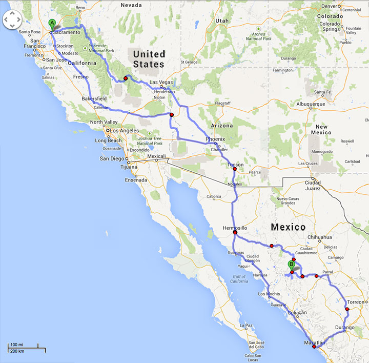 Route to Mexico & Back 01/2014