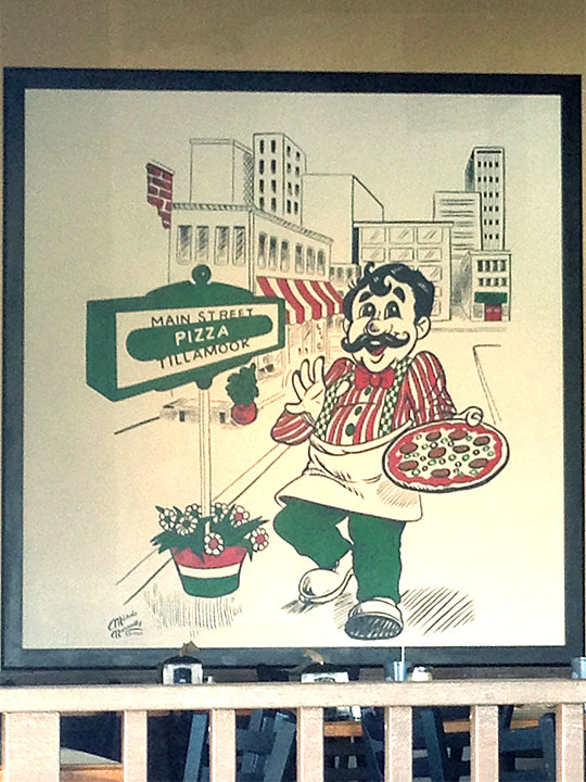 Main St Pizza Sign